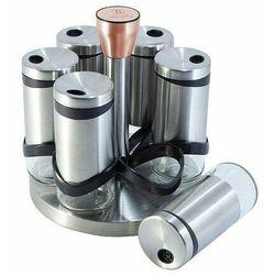 Berlinger haus 6-częściowy zestaw pojemników na przyprawy w stojaku