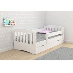 Komplet - Łóżko dziecięce Kocot-Meble CLASSIC 1 140x80 - Biały - Materac + szuflada! Promocja Spokojny Sen