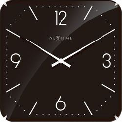 Zegar ścienny Basic Square Dome black by Nextime, 3175