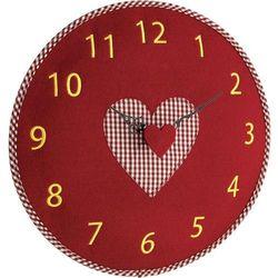 Zegar ścienny analogowy analogowy TFA 60.3025.05 Kwarcowy, czerwony / czerwony, (ØxG) 330 mmx40 mm, Filz-Wanduhr