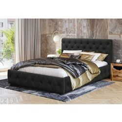 Łóżko tapicerowane do sypialni 140x200 sfg088 białe marki Meblemwm