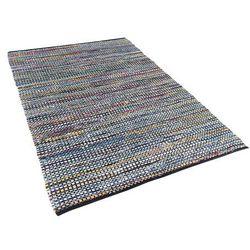 Dywan - niebieski - 140x200 cm - bawełna - handmade - alanya marki Beliani