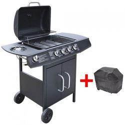 Grill gazowy ze strefą gotowania 4+1, kolor czarny
