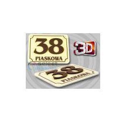 TABLICZKA ADRESOWA, TABLICA NUMER, NUMERY DOM 3D 30x20 sprawdź szczegóły w TwojNadruk.pl