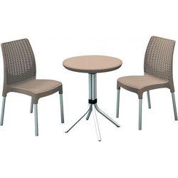 Allibert Zestaw mebli ogrodowych chelsea (dwa krzesła + stolik) - cappuccino + darmowy transport! + zamów z
