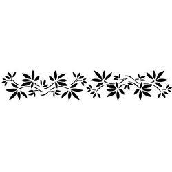 Szablon malarski z tworzywa, wielorazowy, wzór flora 271 - kwietny border marki Szabloneria