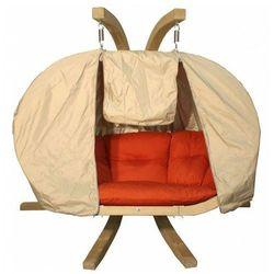 Beżowy pokrowiec na fotel wiszący - Parys 3X
