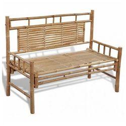 Drewniana ławka ogrodowa calmer - brązowa marki Elior