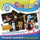 Obrazki do kolorowania  creativo leśny koncert aksamitne tło (5 sztuk) marki Astra