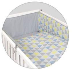 Ceba baby Ceba pościel bawełniana c-3 druk trójkąty niebiesko-żółte