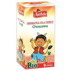 Herbatka dla dzieci - owocowa bio 20 x 2 g - apotheke, marki Apotheke (bio selection)(herbatki dla dzieci i in