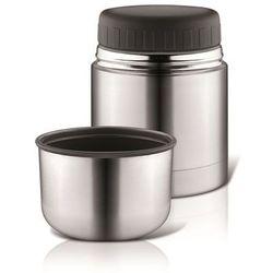 Reer gmbh Termos szeroki na jedzenie + kubek (350ml), reer - stalowo-czarny lux (4013283904305)