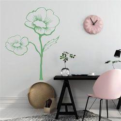 Wally - piękno dekoracji Szablon na ścianę kwiat 2044