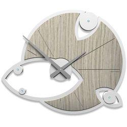 Zegar ścienny Andromeda Swarovski CalleaDesign dąb