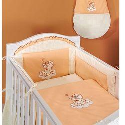 MAMO-TATO pościel 3-el Śpioch na chmurce brzoskwiniowy do łóżeczka 60x120cm z kategorii Komplety pościeli dla dzieci