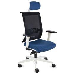 Fotel Level WS HD white (biała) K01 czarny