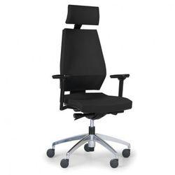 Krzesło biurowe Motion z podpórką głowy, czarne