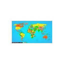 Foto naklejka samoprzylepna 100 x 100 cm - Mapa polityczna świata, marki fotako do zakupu w FOTAKO