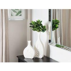 Beliani Dekoracyjny wazon na kwiaty biały 25 cm thapsus