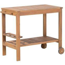 Stolik drewniany na kółkach caserta marki Beliani