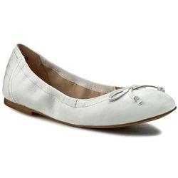 Baleriny CAPRICE - 9-22109-26 White Nappa 102