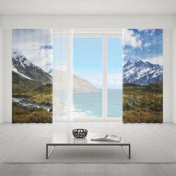 Zasłona okienna na wymiar komplet - WINTER IN ALPS