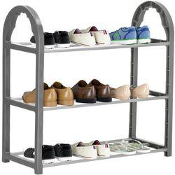 Regał na buty z metalowymi 3 półkami szafka ciemnoszary