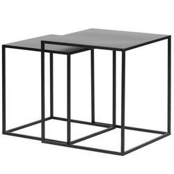 SET OF 2 - ZIVA COFFEE TABLE METAL BLACK