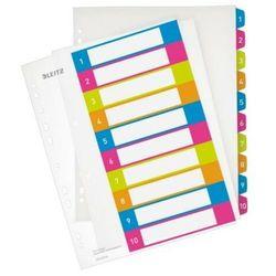 Przekładki plastikowe do nadruku tekstu na kartę LEITZ WOW 1-10 (4002432100316)