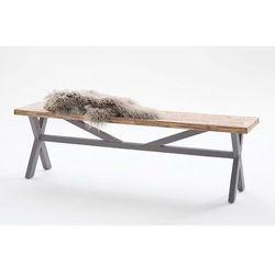 Baron ławka z litego drewna - szary marki Fato luxmeble