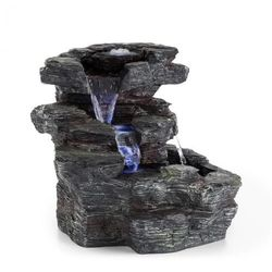 Blumfeldt Rochester Falls Fontanna ogrodowa IPX8 6 W tworzywo Polyresin 3 diody LED imitacja kamienia (4060656102127)