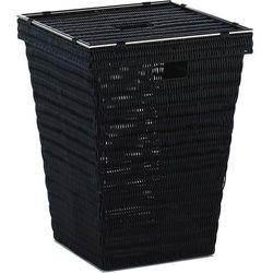 kosz na pranie, 40x40x52 cm, czarny (4025457230707)