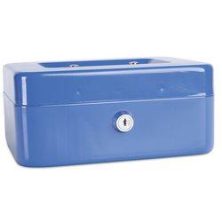 Donau Kasetka na pieniądze , średnia, 200x90x160mm, niebieska