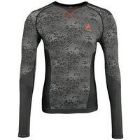 ODLO EVOLUTION WARM Podkoszulki black /concrete grey/orangeade, kolor czarny
