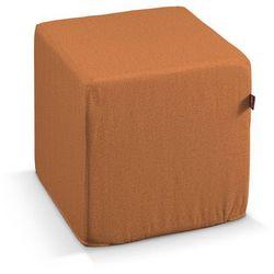 pokrowiec na pufę kostke, pomarańczowyszenil, kostka 40x40x40 cm, madrid marki Dekoria
