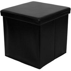 Stilista ® Czarna składana pufa cube siedzisko kufer fotel - czarny (40040280)