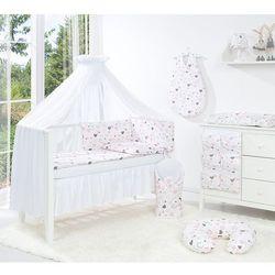 MAMO-TATO 4-el pościel dla niemowląt do łóżeczka 60x120 Pastelowe serduszka + baldachim / moskitiera