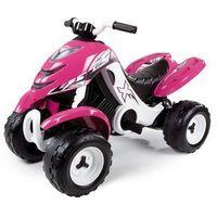 Smoby quad elektryczny x power różowy 33049 (7600033049) marki Simba