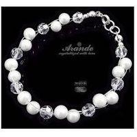 Arande Bransoletka swarovski ślubna crystal pearl srebro