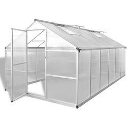 Vidaxl szklarnia ogrodowa ze wzmacnianą aluminiową ramą 9,025 m2 (8718475906018)