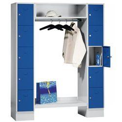 Eugen wolf System garderob ze schowkami, 10 przedziałów na zewnątrz, 10 wieszaków na ubrani