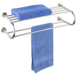 Wieszak na ręczniki FASTRO + półka łazienkowa, 2 w 1, WENKO (4008838762424)