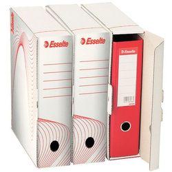 Pudło archiwizacyjne na 1 segregator A4/75 Esselte białe (355x97x300)
