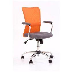 krzesło dziecięce ANDY pomarańczowo-szary