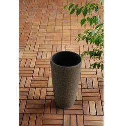 Ogrody leandro Ogrodowa donica plastikowa wysoka stożek mokka s