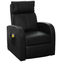 Vidaxl elektryczny fotel do masażu z pilotem, czarny. (8718475828457)