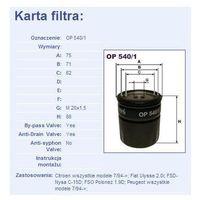 Filtr oleju OP 540/1 - sprawdź w wybranym sklepie