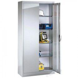 Metalowa szafa warsztatowa - różne wymiary. Półki o nośności 70 kg., 8920-00