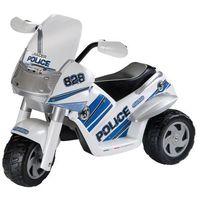 motor trójkołowy na akumulator raider police marki Peg perego