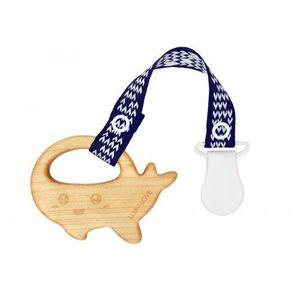 MaMari wieloryb - gryzak z drewna klonowego z zawieszką LULLALOVE (5903240348893)